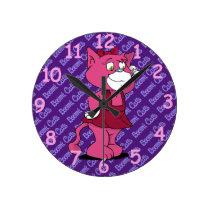 Boomi Cats Round Clock