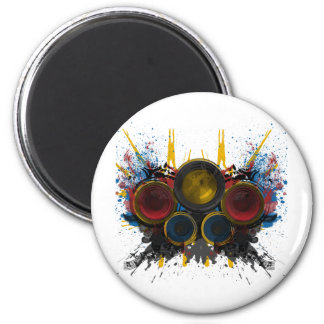 Booming Music! 2 Inch Round Magnet