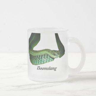 Boomslang 10 Oz Frosted Glass Coffee Mug