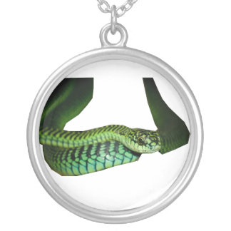 Boomslang Round Pendant Necklace