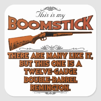 Boomstick Creed Square Stickers