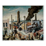Boomtown by Thomas Hart Benton 1928 Poster