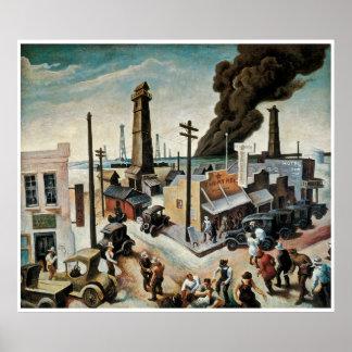 Boomtown de Thomas Hart Benton 1928 Póster
