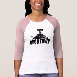 BoomTown Women's Pink Baseball T T-Shirt