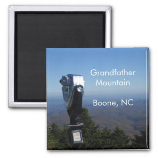Boon Mountain Range 2 Inch Square Magnet