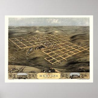 Boone (Montana), IA Panoramic Map - 1868 Poster