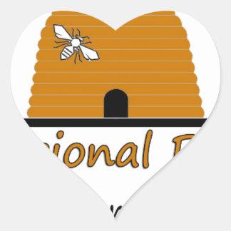 Boone Regional Beekeepers Association Heart Sticker