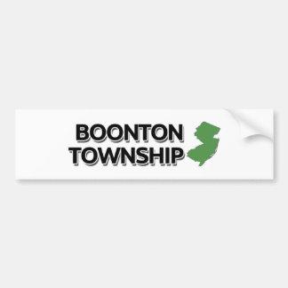 Boonton Township, New Jersey Bumper Sticker