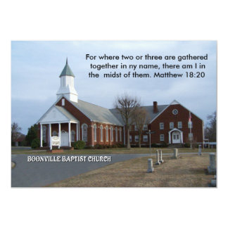 BOONVILLE BAPTIST CHURCH-INVITATION CARD