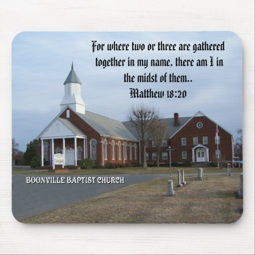 BOONVILLE BAPTIST CHURCH-MOUSEPAD