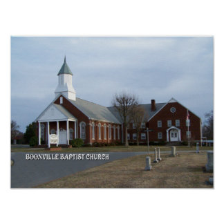 BOONVILLE BAPTIST CHURCH-POSTER POSTER