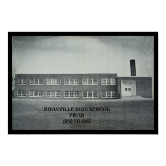 BOONVILLE HIGH SCHOOL-POSTER POSTER