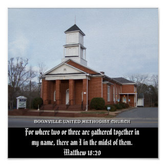 BOONVILLE UNITED METHODIST CHURCH-POSTER POSTER