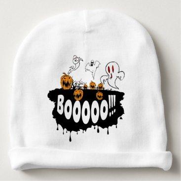 Halloween Themed Booo Baby Beanie