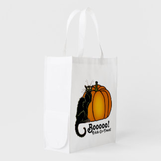 Booo! Halloween Trick-Or-Treat! Grocery Bag