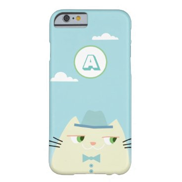 Booo The Cat , Funny Cartoon Dandy Blue Barely There iPhone 6 Case
