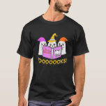 BOOOOKS GHOST Halloween Funny Ghosts Book Reading T-Shirt