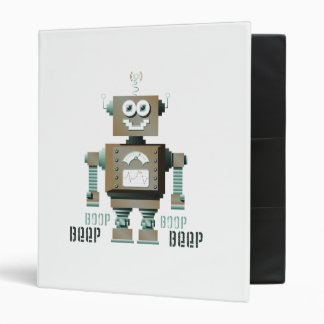 Boop Beep Toy Robot Binder