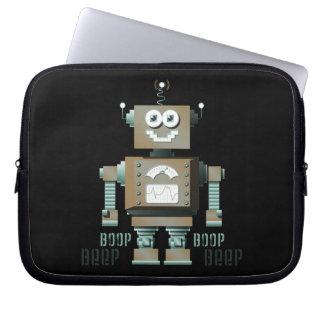 Boop Beep Toy Robot Laptop Sleeve (dk)