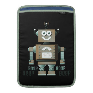 Boop Beep Toy Robot MacBook Sleeve (dk)