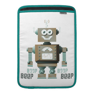 Boop Beep Toy Robot MacBook Sleeve (lt)