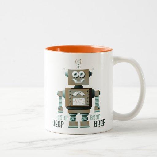 Boop Beep Toy Robot Mug