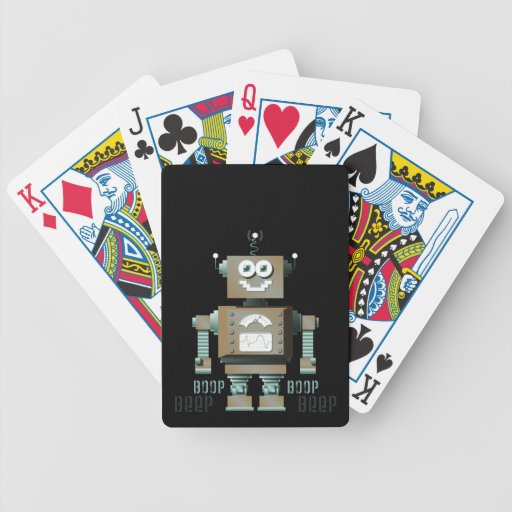 Boop Beep Toy Robot Playing Cards (dk) Bicycle Playing Cards