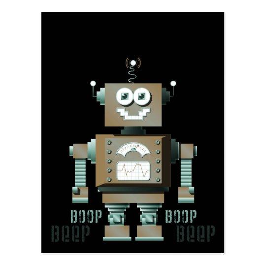 Boop Beep Toy Robot Postcard (dk)