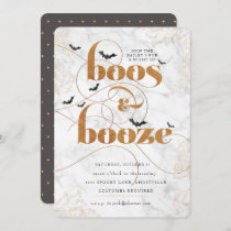 Boos and Booze Halloween Elegant Invitation