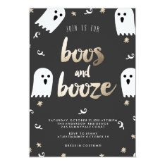 Boos And Booze Halloween Party Invitation at Zazzle