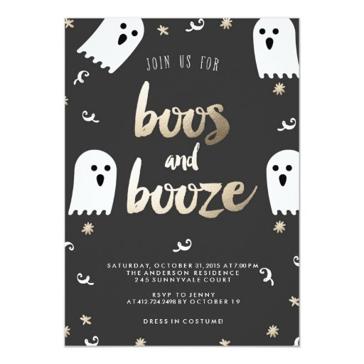 boos and booze halloween party invitation zazzle. Black Bedroom Furniture Sets. Home Design Ideas