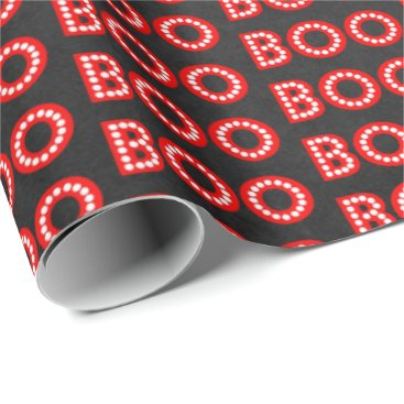Halloween Themed Boos & Booze Boo On Halloween Party Wrapping Paper