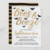 Boos & Booze Halloween Party Invitation