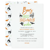 Boos Hisses and Halloween Wishes Invitation
