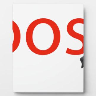 boosh brand logo apparel plaque