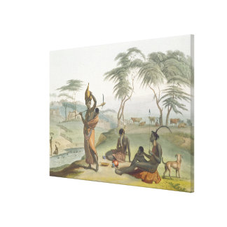 Boosh Wannahs, plate 8 from 'African Scenery and A Canvas Print