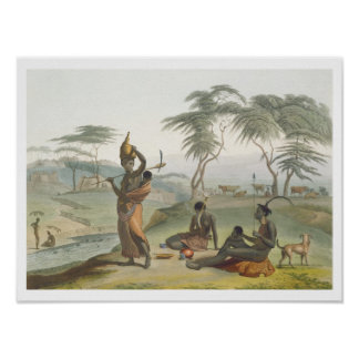Boosh Wannahs, plate 8 from 'African Scenery and A Poster