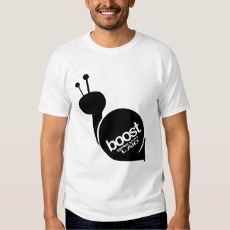 Boost Gets You Laid - Black Snail Tee Shirt