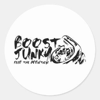Boost Junky Classic Round Sticker