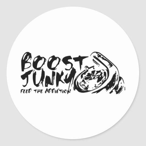 Boost Junky Round Stickers