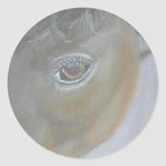 Boost My Ego - Horse Painting Classic Round Sticker