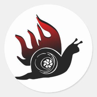 Boost Snail Classic Round Sticker