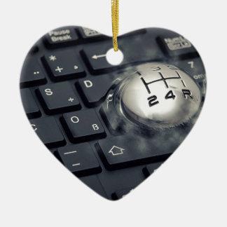 Boost your computer ceramic ornament