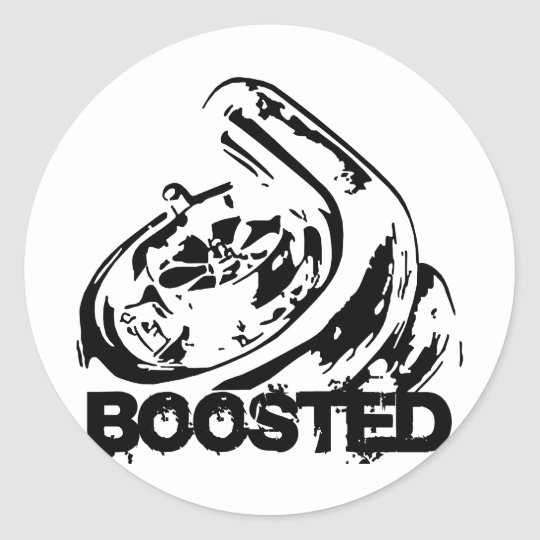Boosted Classic Round Sticker