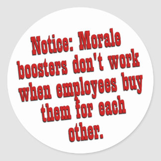 Boosting Employee Morale Classic Round Sticker
