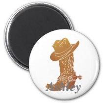 Boot  and hat silhouette magnet