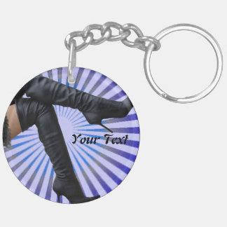 BOOT Art - (blue star burst) Keychain