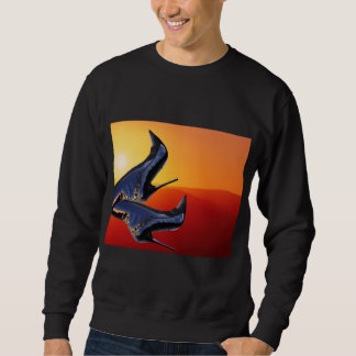 Boot Art with a Coloful Sunset Background Sweatshirt