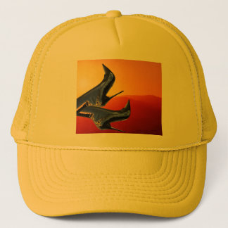 Boot Art with a Coloful Sunset Background Trucker Hat