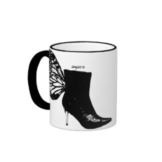 Boot butterfly coffee mugs